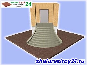 Лестница фасадная