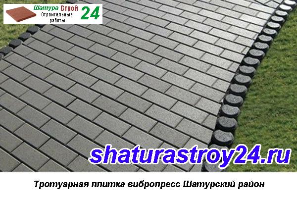 Тротуарная плитка Вибропресс Шатурский район