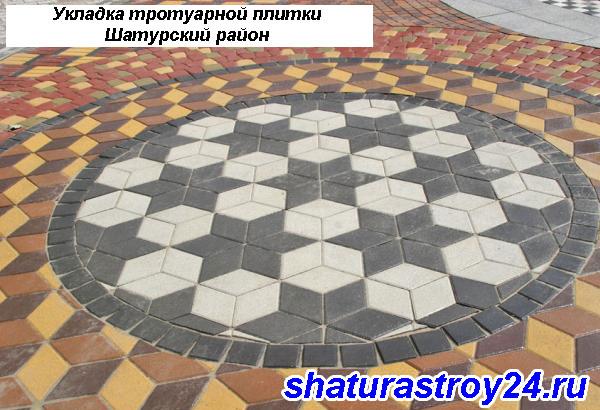 Укладка тротуарной плитки Шатурский район
