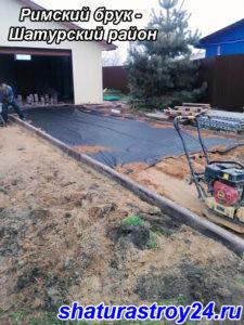 Укладка тротуарной плитки Римский брук - деревня Якушевичи