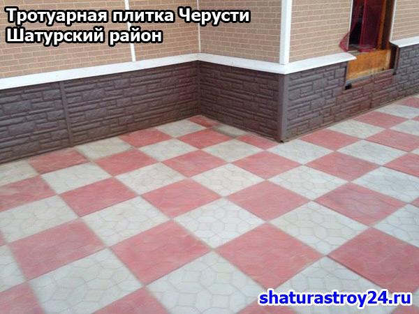 Пример укладки тротуарной плитки Ковёр в посёлке Черусти Шатурский район