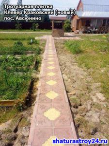 Укладка тротуарной плитки посёлок Авсюнино Шатурский район