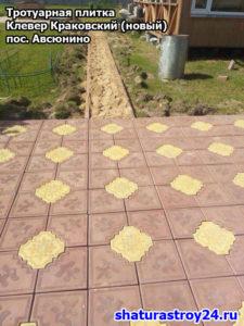 Пример укладки тротуарной плитки посёлок Авсюнино Шатурский район