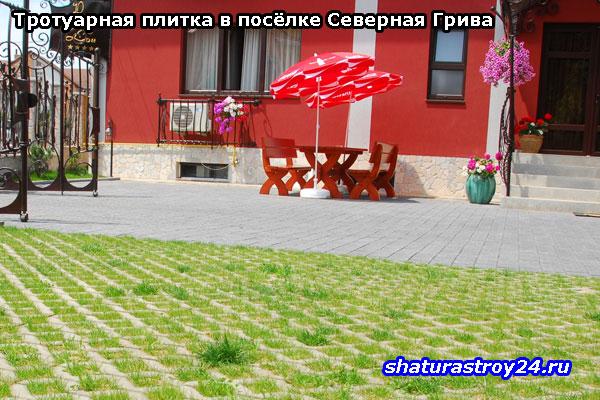 Тротуарная плитка Эко на даче
