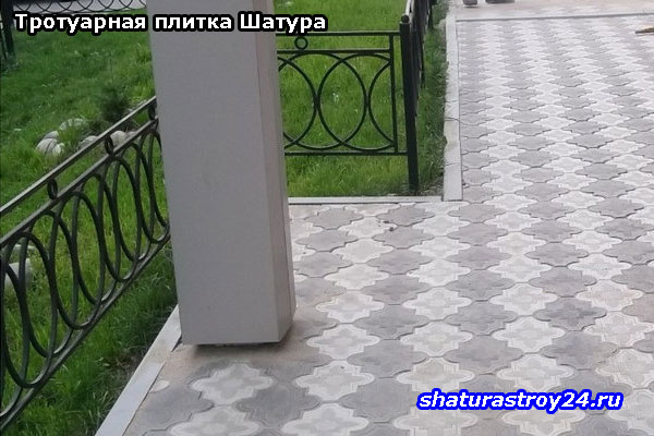 Укладка тротуарной плитки Клевер Краковский на даче в Башкеево (Шатурский район, Московская область)