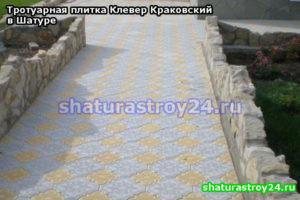 Тротуарная плитка Клевер Краковский в Шатурском районе