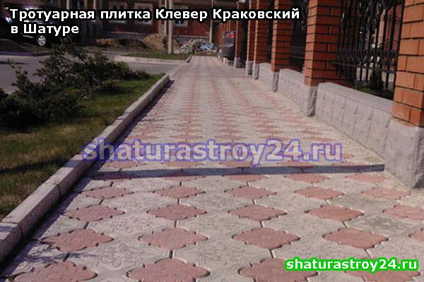 Клевер Краковский в городских условиях: укладка тротуаров