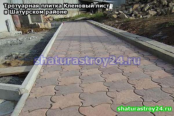 Тротуарная плитка Кленовый лист в Шатурском районе