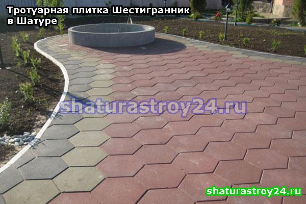 Тротуарная плитка Шестигранник от производителя в селе Власово (Шатуский район Московская область)