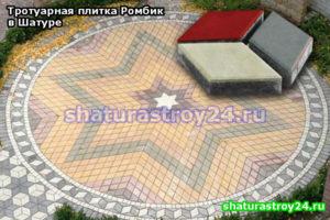 Тротуарная плитка Ромбик Шатурский район