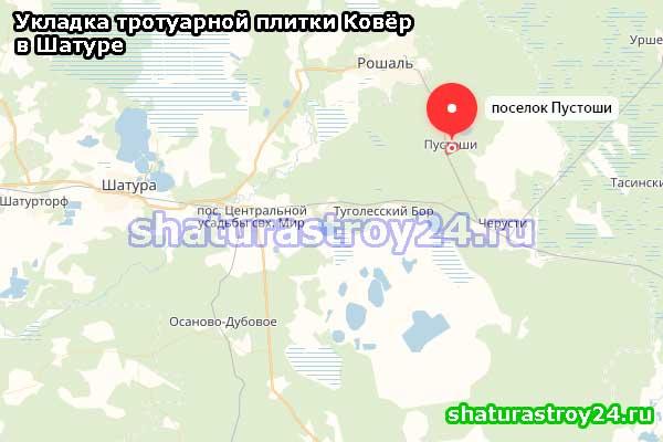Посёлок Пустоши шатурский район: производство и укладка тротуарной плитки Ковёр