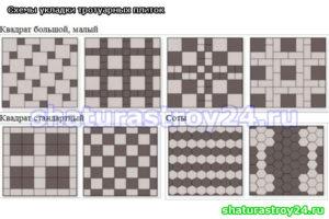 Схемы укладки с применением плитки Соты