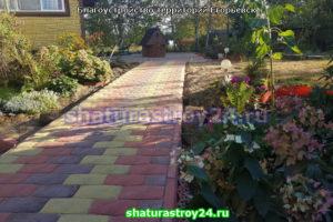 Пример укладки тротуарной плитки Английский булыжник в Егорьевске