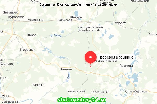 Работы велись на даче, в деревнеБабынино Шатурского района Московской области:
