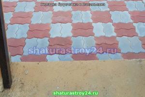 Пример укладки плитки тротуарной плитки Волна в Егорьевском ГО