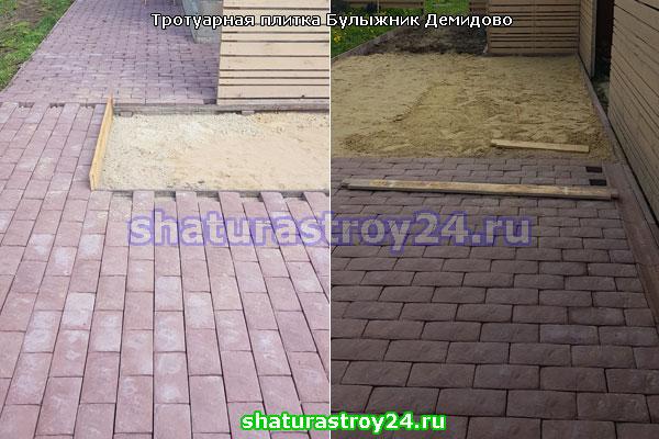 Примеры укладки плитки Английский Булыжник в Демидово