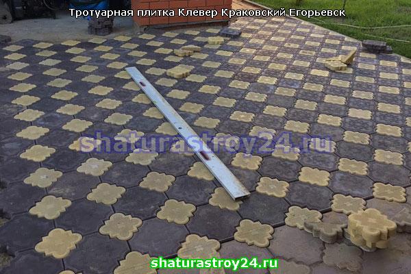 Тротуарная плитка Клевер Краковский в Егорьевске